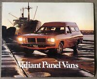 c1977 Chrysler Valiant Panel Vans original Australian sales brochure - sticker