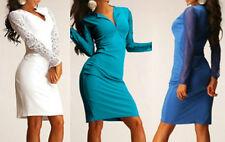 Neu Sexy Kleid Mini Etuikleid Damen Mode Party Freizeit Sommer Spitzen  XS S M L