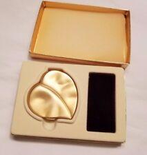 1997 Estee Lauder Golden Leaf Heart Lucidity Translucent Pressed Powder Unused
