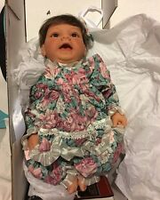 """Lee Middleton Sweet Flower Baby Doll Realistic 20"""" with Box Little Girl"""