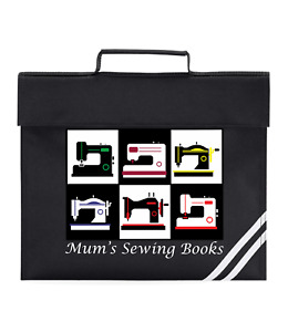 Personalised Sewing Book Bag Any Name  7 Colours A4 Pocket Storage With Handle
