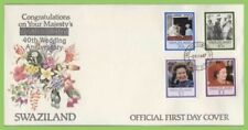 Royalty First Day Cover Swazi Stamps