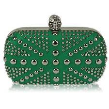 green union jack skull CLUTCH  BAG diamante 135 WEDDING EVENING hard case