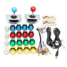 20 Boutons Mame DIY LED Arcade +2 Jeux Joysticks Lumineux+2 USB Encodeur Kit Set