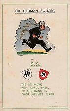 NEW A4 PRINT WW2 THE GERMAN SOLDIER BRITISH ARMY POSTER THE SS STORMTROOPERS