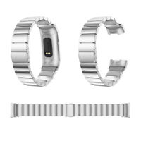 Stainless Steel Link Bracelet Band Luxury Watchbande Strap For Fitbit Charge 3