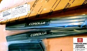 NEW OEM TOYOTA COROLLA 19-2021 HATCHBACK DOOR SILLS PROTECTORS 4 PIECE SET