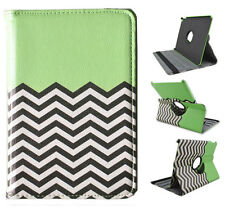 360 Rotating Leather Cover Case for iPad mini 1 2 3 Green