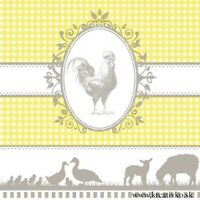 E10 Easter 4single paper decoupage napkins Easter  eggs blue and gold