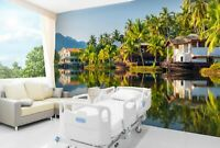 3D Coconut House R235 Business Wallpaper Wall Mural Self-adhesive Commerce An