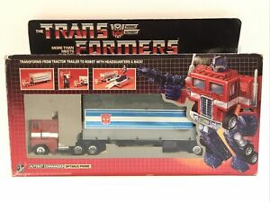 Vintage 1984 G1 Transformers Optimus Prime Autobot Incomplete with Box