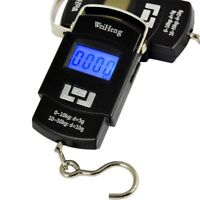Portable 50Kg LCD Digital Hanging Luggage Weight Kitchen Electronic Hook Scale