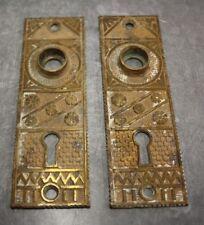 Ornate brass door plates