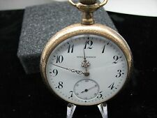 Working WILL J. MORRIS 17 Jewel Pocket Watch