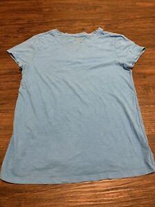 Perfect ATHLETA Organic Daily Crew Tee Sz M Dark Surf Teal Cotton Shirt Top
