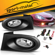 for 2002-2004 Acura RSX DC5 Clear Bumper Fog Light Lamp w/ Wiring Kit Left+Right