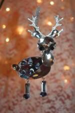 "Christmas Ornaments 4.5"" Silver & Blue Fawn Acrylic Crystal Sun Catcher Ganz"
