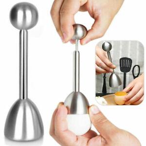Stainless Steel Boiled Egg Topper Shell Top Cutter Knocker Opener Kitchen Tool