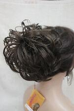 "Medium Brown Dome Wiglet Drawstring Ponytail 6"" Bun Cover Hair Pieces"