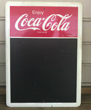 Vtg Collectible 1991 Coca-Cola Chalkboard Store Use Chalkboard Advertising Sign