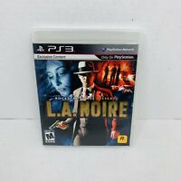 L.A. Noire (Sony PlayStation 3 2011) PS3 Video Game Complete w Manual CIB TESTED