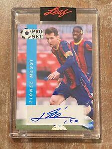 2021 Leaf Pro Set Lionel Messi Auto #4/4 SSP #PSS-LM1 Autograph Argentina Soccer