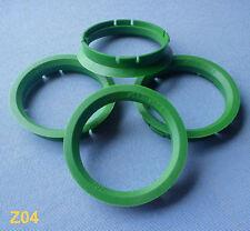 (Z04) 4 Stück  Zentrierringe  Reduzierringe 63,3 / 56,6 mm grün für Alufelgen