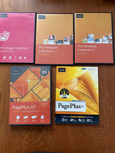 Serif PagePlus X6 and X7 - CD Case + 3 Disc Image Collection for PC Windows