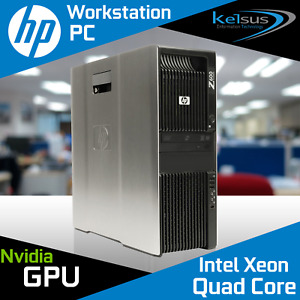 HP Z600 Workstation 2x Xeon Quad Core E5530 CPU 24GB RAM Quadro Windows 10 PRO