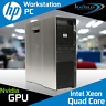 HP Z600 Workstation 2x Xeon Quad Core X5570 CPU 24GB RAM Quadro Windows 10 PRO