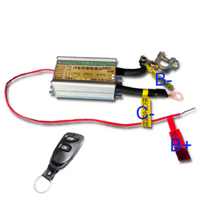 12V 200A Car Battery Disconnect Master Switch Cut Off Isolator & Remote Control
