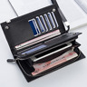Men's Bifold Leather Zip Long Wallet ID Credit Card Holder Purse Clutch Handbag