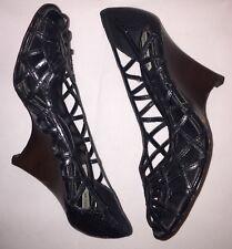 Steve Madden Platform Shoes, Wedges, Open Toe - Black - Size 8M - NEW