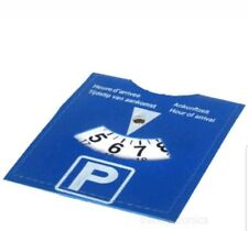 CAR PARKING DISC TIMER CLOCK ARRIVAL TIME DISPLAY DISABLED BLUE BADGE HOLDERS