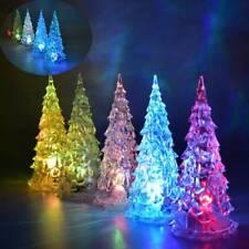 Colorful Crystal Christmas Tree Night Light Lamp Home Halloween Decoration Gift