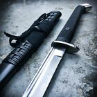 BATTLE READY Samurai Ninja Japanese Katana Sword Full Tang Carbon Steel Blade