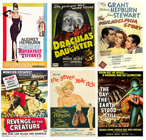 VINTAGE MOVIE POSTERS WALL ART A4 POSTER PRINTS