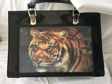 Butler and Wilson Black Bag With Tiger Hologram