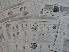 BICYCLE PARTS FOR VINTAGE ACETYLENE LAMPS INFO 15 USED SHEETS REPRODUCTION