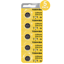 Toshiba CR1216 3 Volt Lithium Coin Battery (5 Pack)