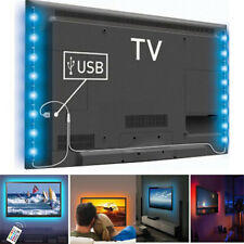 USB LED RGB Color Changing Strip Ambient Mood Light TV Backlight Wireless Remote
