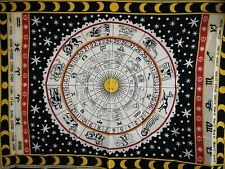B & W Astrology Wall Hanging Cotton Mandala Tapestry Hippie Bohemain Poster UK