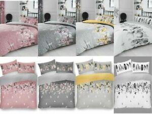 Designer Range Feather Duvet Set 4 Stunning Colors Reversible UK-Tracked Postage