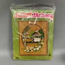 Vintage Sunset Designs Stitchery Summer in the Park 16 X 20 Embroidery Kit