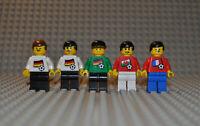 Lego Soccer Figuren  soc031s01 soc019s01 soc012 soc030s04 Germany France Wales