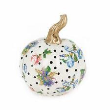 MacKenzie-Childs Flower Market Pumpkin - Mini - White