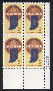 ALLY'S STAMPS US Plate Block Scott #1308 5c Indiana Statehood [4] MNH STK
