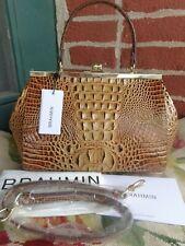 Brahmin Toasted Melbourne Croco Leather Juliette Satchel Bag Purse