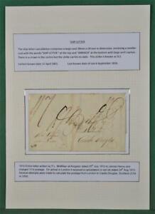 JAMAICA COVER 1810 JAMAICA SHIP LETTER CANCEL TO CASTLE DOUGLAS SCOTLAND  (A34)