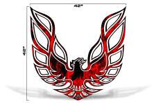 "42"" X 42"" Firebird Hood Graphic Decal Sticker For Pontiac Trans Am RED FLAMES"